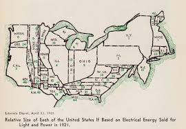 A Map Of The Us A Map Of American Electricity Use In 1921 The Atlantic