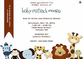 Baby Shower Invitations And Thank You Cards Baby Shower Invitation Templates Jungle Animals Printable White