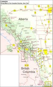 Canadian Rockies Map Canada Gem Trek Hiking Maps Of The Banff U0026 Jasper National Parks