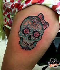 my girly sugar skull ink piercings
