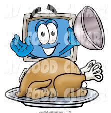 thanksgiving turkey art food clip art of a happy desktop computer mascot cartoon character
