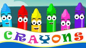 crayons nursery rhymes crayon color song for kid songs nursery