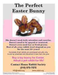 flyers for easter and bunnies don u0027t mix house rabbit society