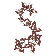 rusty metal butterfly swarm wall art ornament gardens2you rusty metal butterfly swarm wall art ornament
