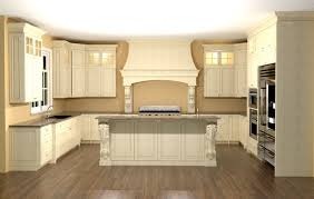 Kitchen With Island Design Large Kitchen With Custom Hood Features Large Enkeboll Corbels On