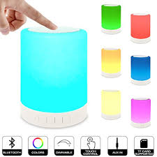 elecstars led touch bedside l night lights bluetooth speaker ruoi touch sensor led bedside l