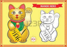 vector japanese lucky cat illustration maneki neko maneki cat