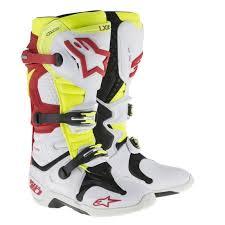 white motocross boots new alpinestar tech 10 white red neon motocross boots 1stmx co uk