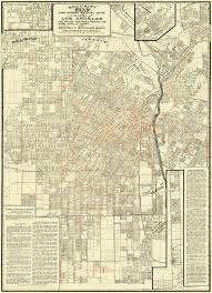 Map Los Angeles Ca by Old Railroad Map Los Angeles Street Railway Guide 1908