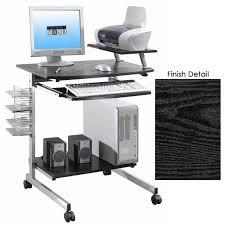 Movable Computer Desk Mobile Computer Desk Adjustable Shelf In Computer And Laptop Carts