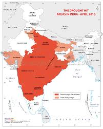 India Time Zone Map by Drought Affected Areas In India 2016 India Drought Affected