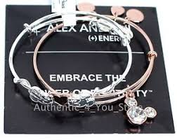 rose gold bracelet set images New disney alex and ani mickey minnie heart silver rose gold jpg