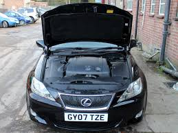 black lexus 2007 2007 lexus is 250 se l auto black with black leather ac nav mark