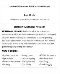 maintenance technician resume apartment maintenance technician resume 2 apartment maintenance
