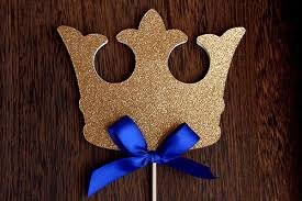 Royal Prince Decorations King Crown Cake Topper Ships In 1 3 Business Days Royal Prince