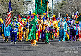 mardi gras costumes new orleans corner club marching mardi gras in new orleans photograph by
