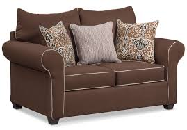 Sleeper Chairs And Loveseats Carla Sofa Loveseat And Chair Set Chocolate American