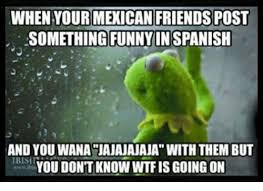 Spanish Word Of The Day Meme - when your mexican friendspost something funnyin spanish and you wana