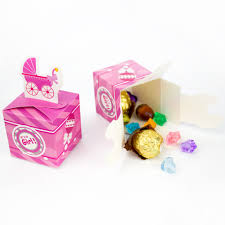 baby shower baby carriage favor box cupcake box candy box
