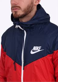nike windbreaker nike windrunner jacket red navy