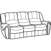Flexsteel Crosstown Sofa 121062p In By Flexsteel In Dunlevy Pa Crosstown Leather Power