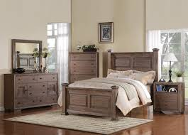 Broyhill Fontana Nightstand Equinox Poster Bedroom Set In Distressed Ash