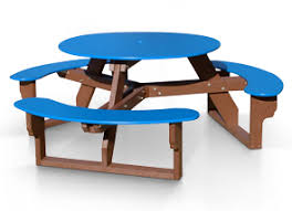 round plastic picnic table round outdoor table recycled plastic picnic tables belson
