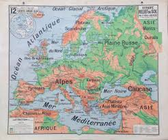 Relief Map 1960s Physical Relief Map Of Europe Retromaps