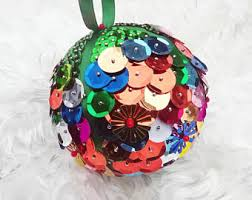 sequin ornaments etsy
