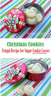 frugal sugar cookie recipe for holiday cookie gifts