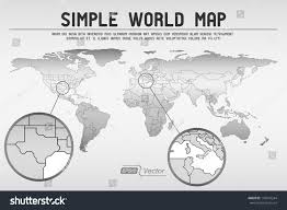 Simple World Map Abstract Simple World Map Eps10 Vector Stock Vector 142074244