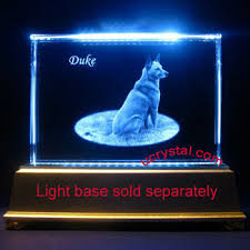 led light stand for crystal glass art 3d photo crystal 3d laser crystal engraving personalized gift