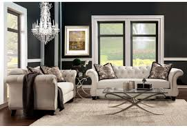Silver Living Room Furniture Furniture Of America Antoniette Living Room Set Silver Fabric