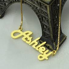 Personalized Gold Name Necklaces Aliexpress Com Buy Personalized Gold Color Name Necklace Letter
