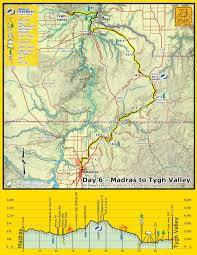 map of oregon showing madras 2014 cycle oregon from madras to bakeoven road the sixth