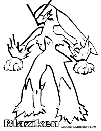 pokemon coloring pages blaziken 1 arterey info