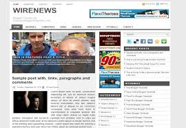 wire news blogger template free download 2017