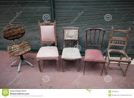 Second Hand Antique Furniture For Sale Second Hand Chairs On Sale Stock Photo Image 49132721