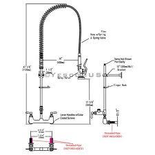 pre rinse kitchen faucets aquaterior commercial pre rinse kitchen faucet pull sprayer