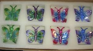 set of 8 princess house fantasia butterfly ornaments item