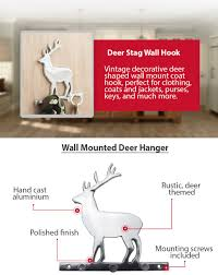 amazon com decorative deer wall mount key holder by comfify