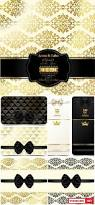 vector vip card with black ribbons background with gold pattern