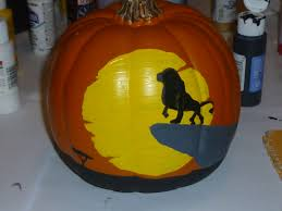 Disney Pumpkin Carving Patterns Mickey Mouse by The Lion King Painted Pumpkin Holiday Pinterest Lions