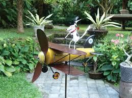 gift essentials dog aviator spike whirligig wind spinner garden
