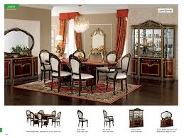 luxor day mahogany classic italian dining room set esf europe