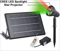solar powered projector cree led spotlight