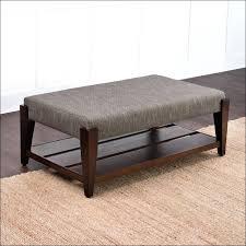 leather ottoman with shelf cfee round leather ottoman with shelf