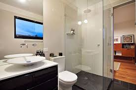 Bathroom In Black Touch Of New York Loft Style Warehouse Conversion In Melbourne