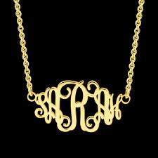 personalized monogram necklace personalised monogram necklace gold monogram necklace nn055
