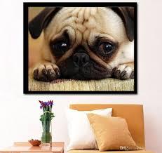 2017 the sad dog pug print diamond embroidery diy needlework